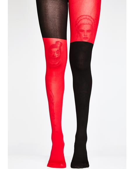 Wild Jester Colorblock Tights