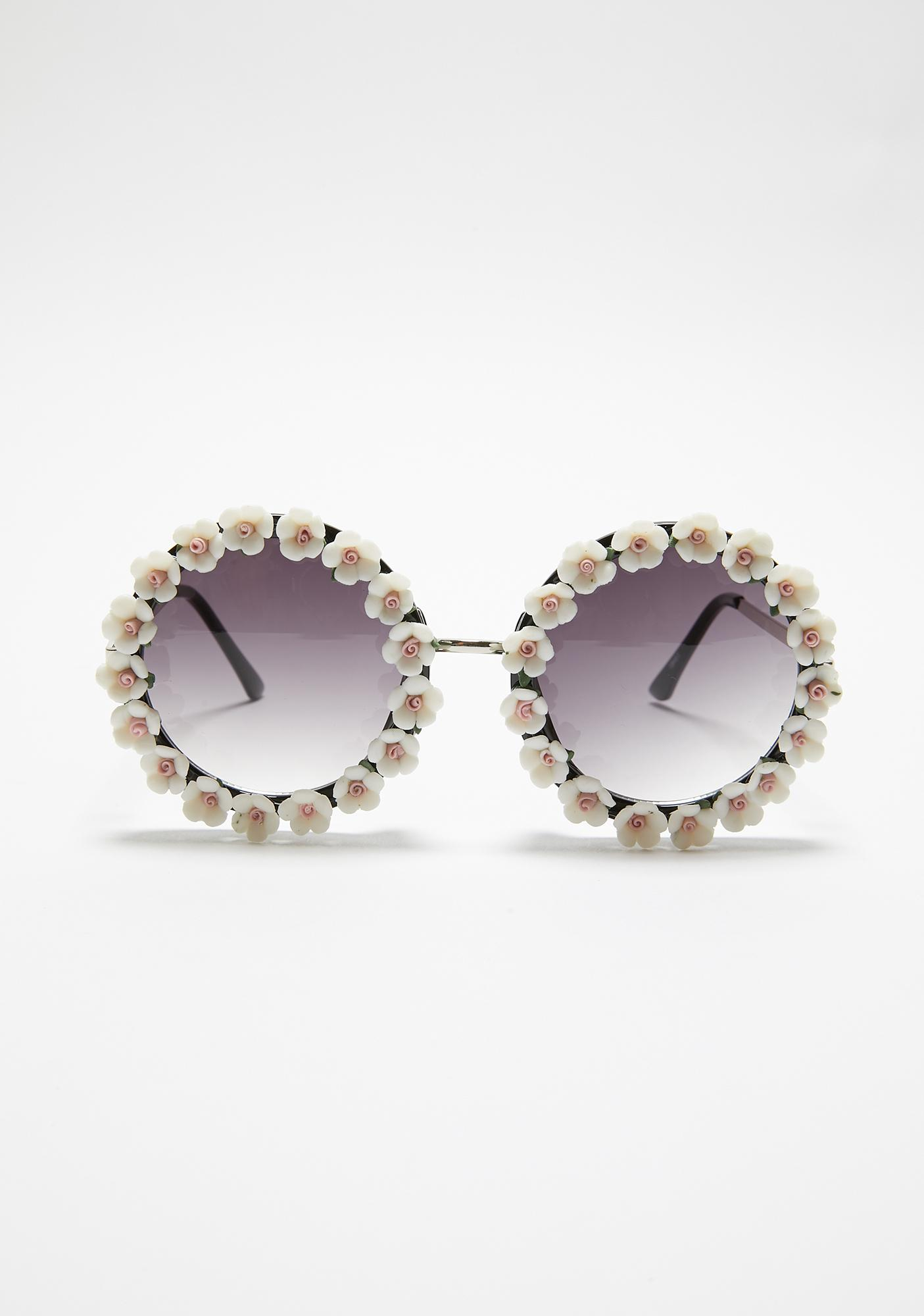 Always Bloomin' Circle Sunglasses