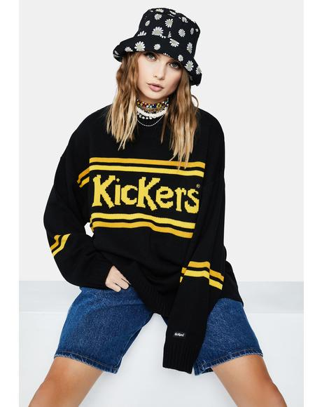 Black And Yellow Knitted Sweater