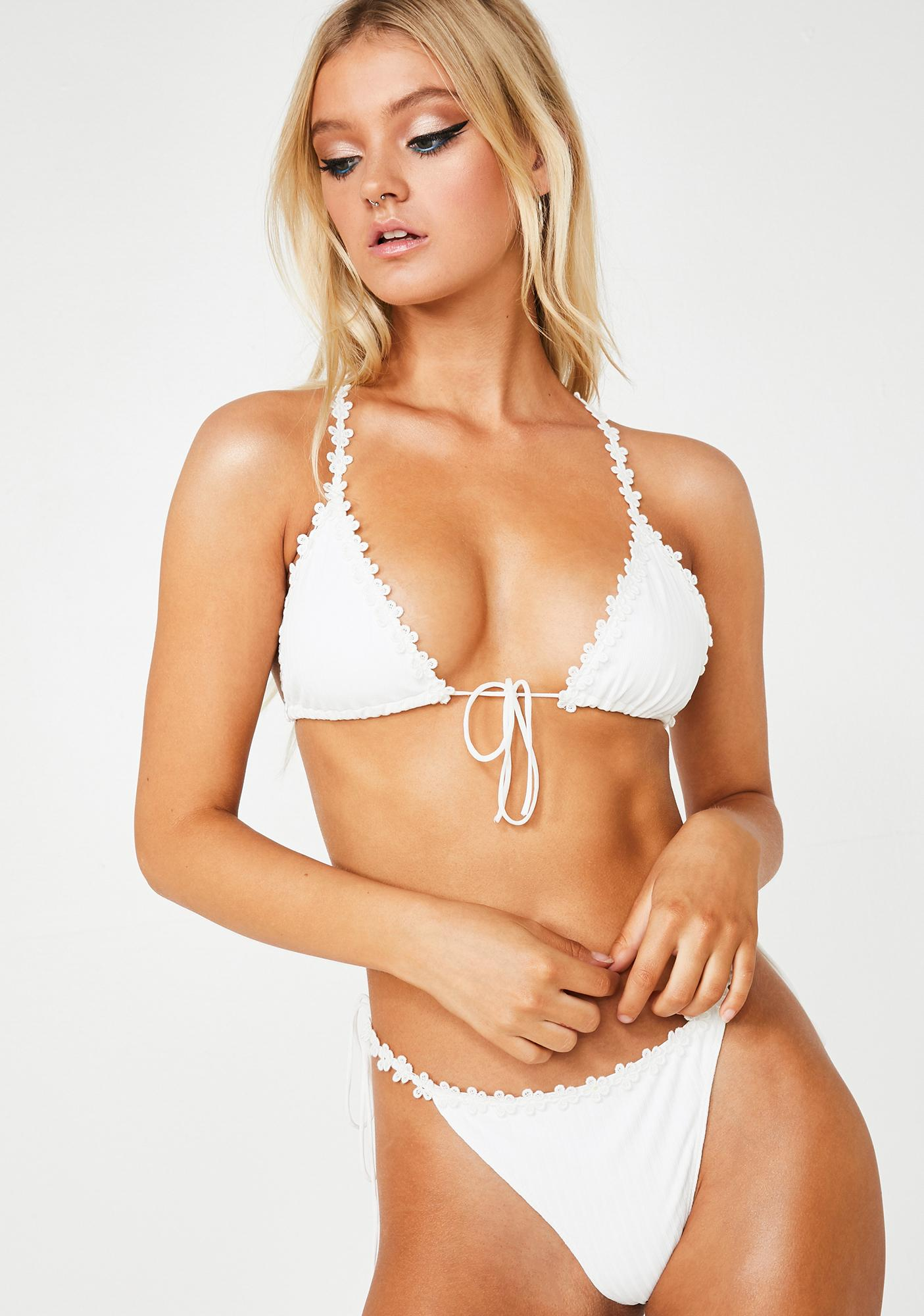 For Love & Lemons Granita Daisy Bikini Top