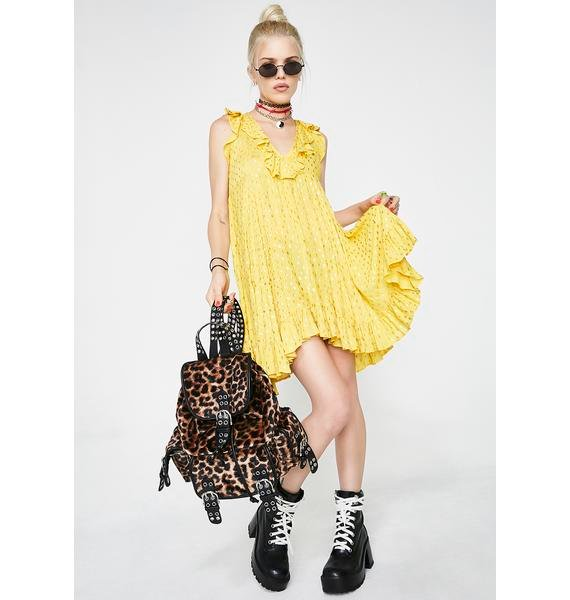Glamorous Lemonade Love Ruffle Dress