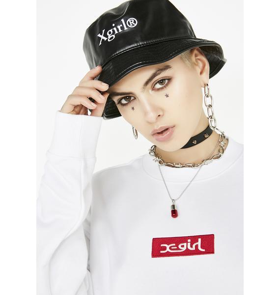 x-Girl Faux Leather Bucket Hat