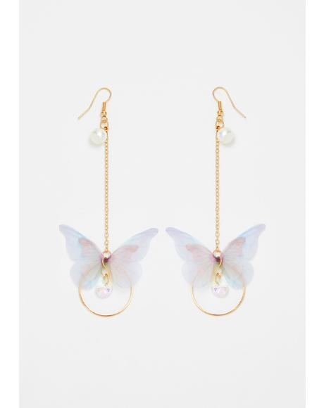 Gossamer Dreams Butterfly Earrings