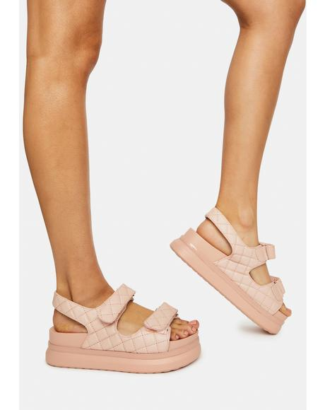 Blush By Your Side Gladiator Sandals
