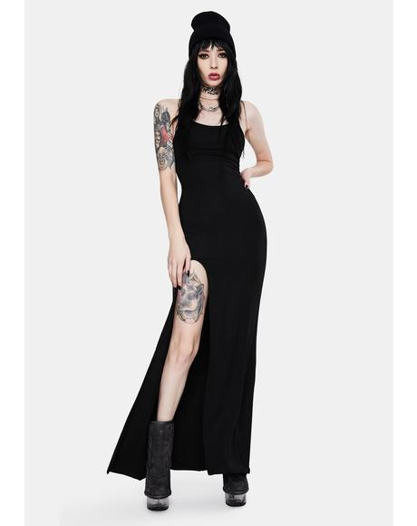 Curfew Broken Maxi Dress