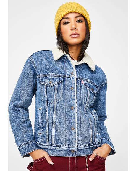 Addicted To Love Sherpa Denim Jacket