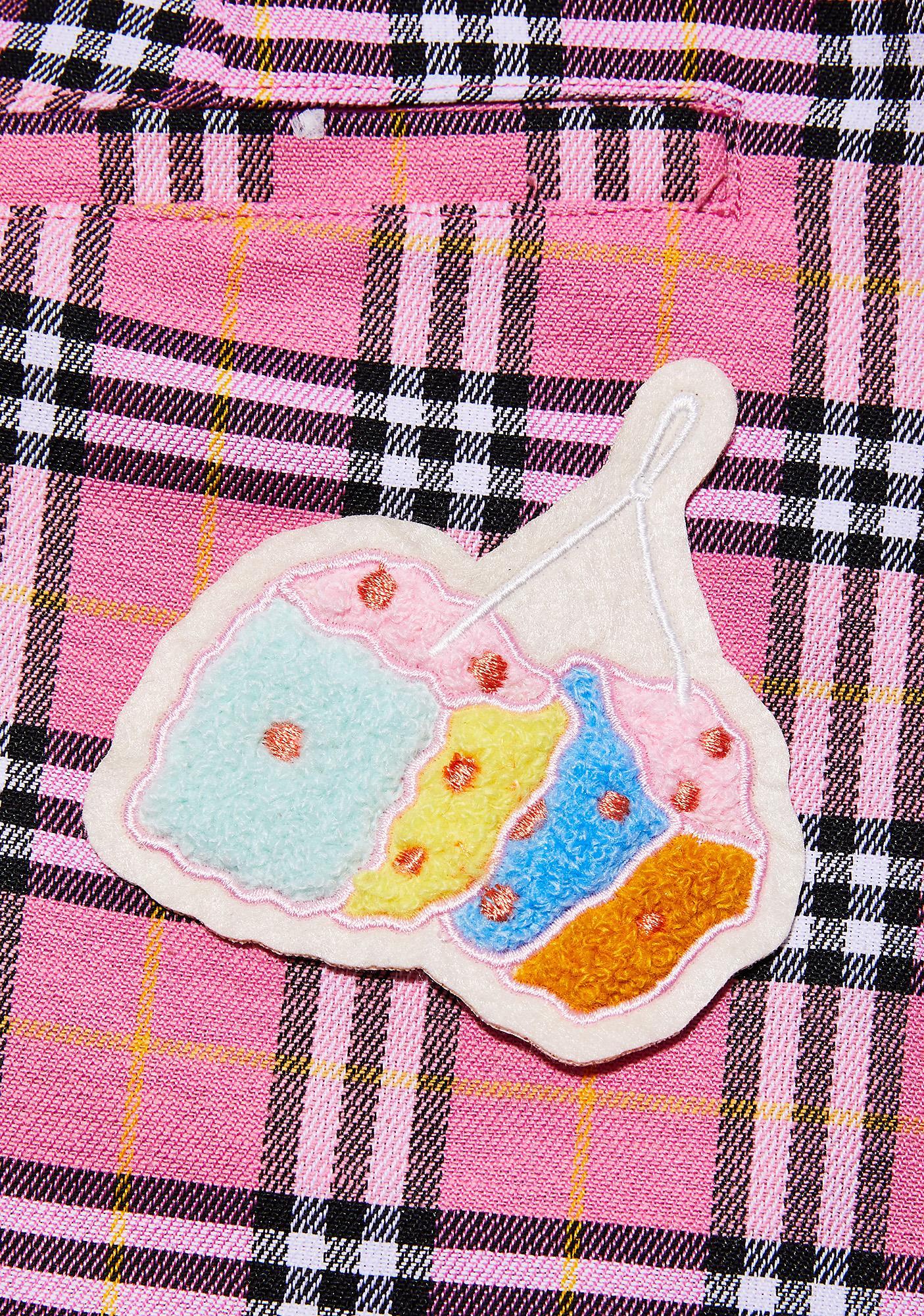 Rosehound Apparel Rainbow Fuzzy Dice Patch