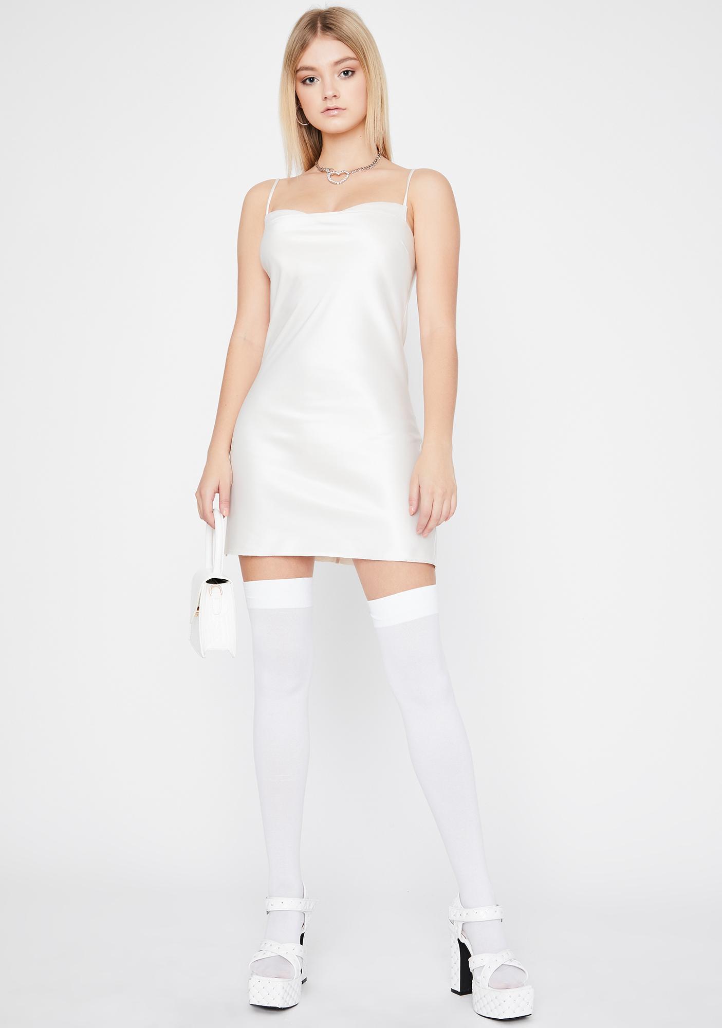 Pearl Took The Night Satin Dress