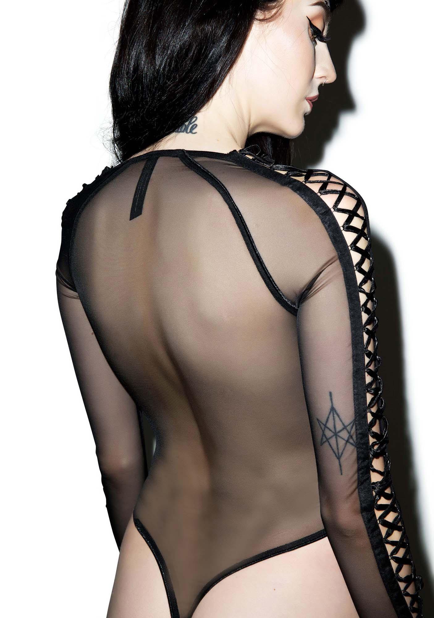 Widow Yomi Yasha Lace Up Body Suit