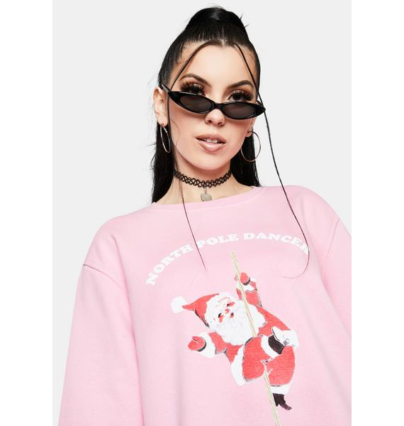 NEW GIRL ORDER North Pole Dancer Christmas Sweatshirt