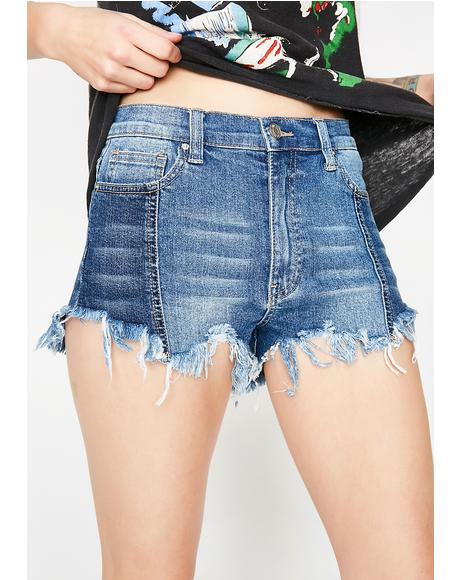 Too Carefree Denim Shorts