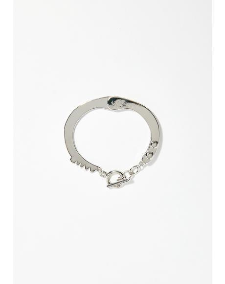 Red Handed Cuff Bracelet