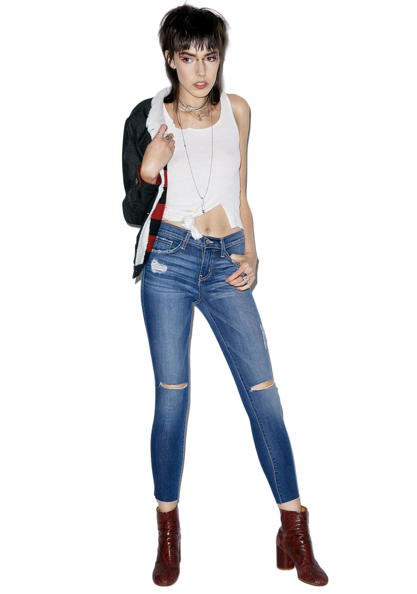 Alexa Distressed Skinny Jeans