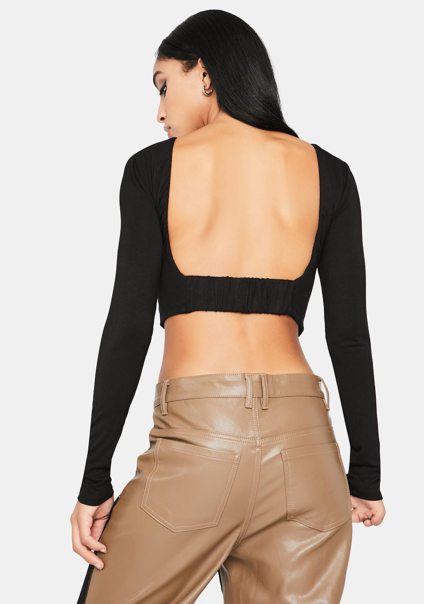 Wicked Hard To Get Open Back Crop Top