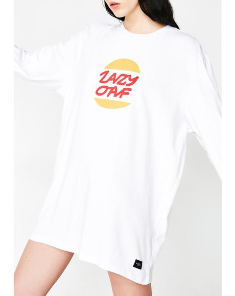 Lazy Burger Long Sleeve Tee