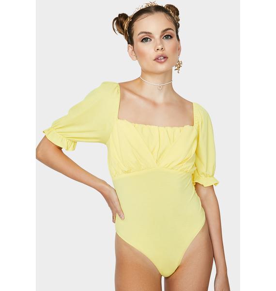 Daffodil Find My Way Ruched Bodysuit