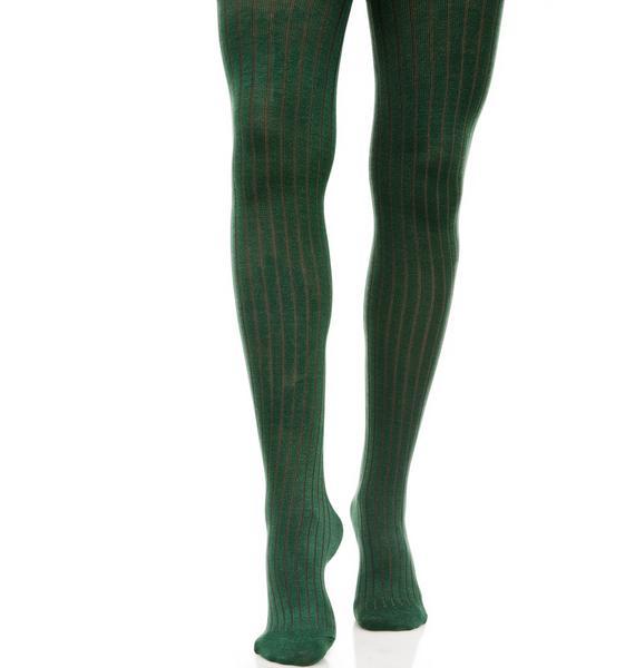 Lady Emerald Knit Tights