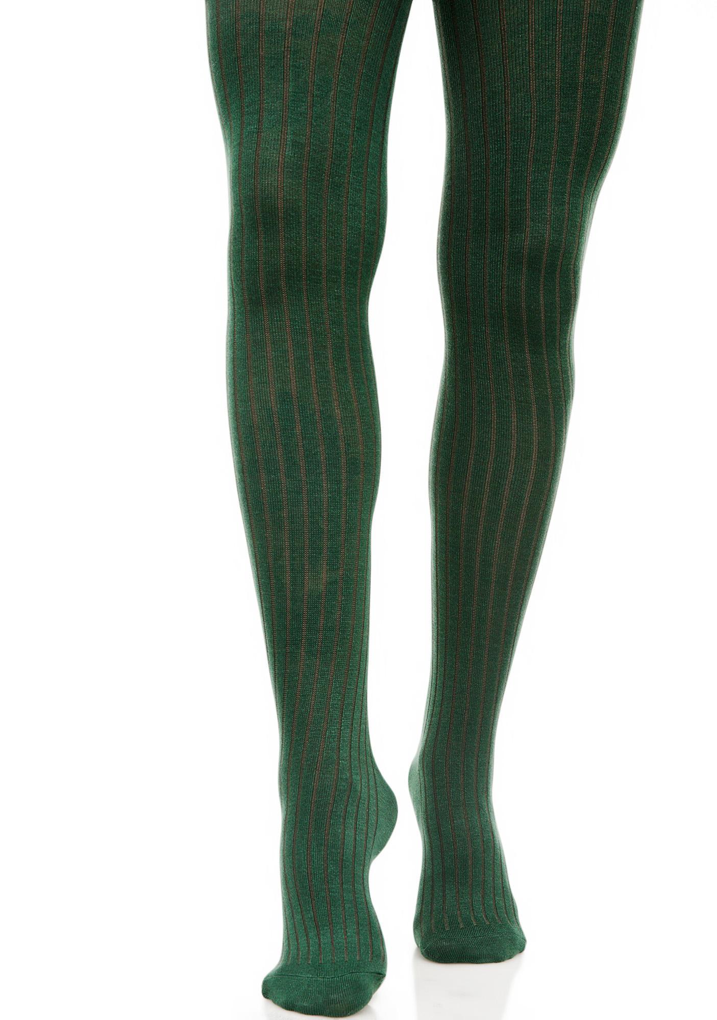5706e944ddb Lady Emerald Knit Tights