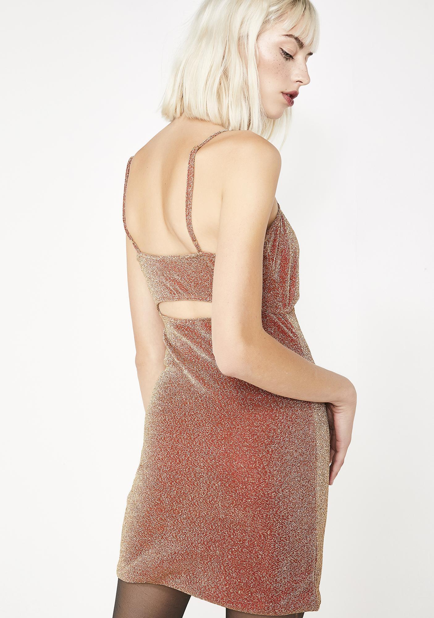 Elsie & Fred Rita Lurex Cutout Mini Dress