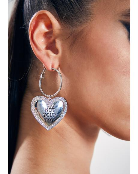 Belongs To Nobody Heart Earrings