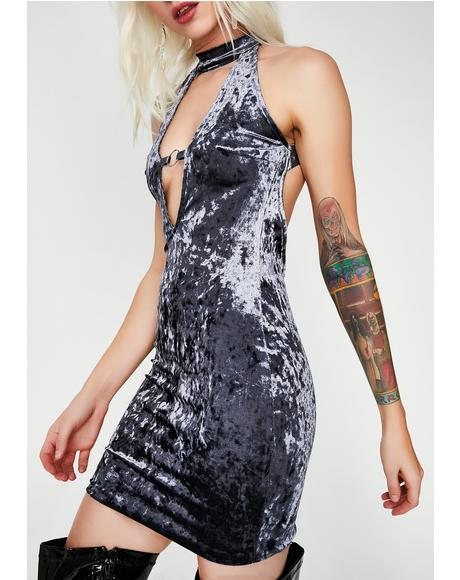Crushed Soul Velvet Dress