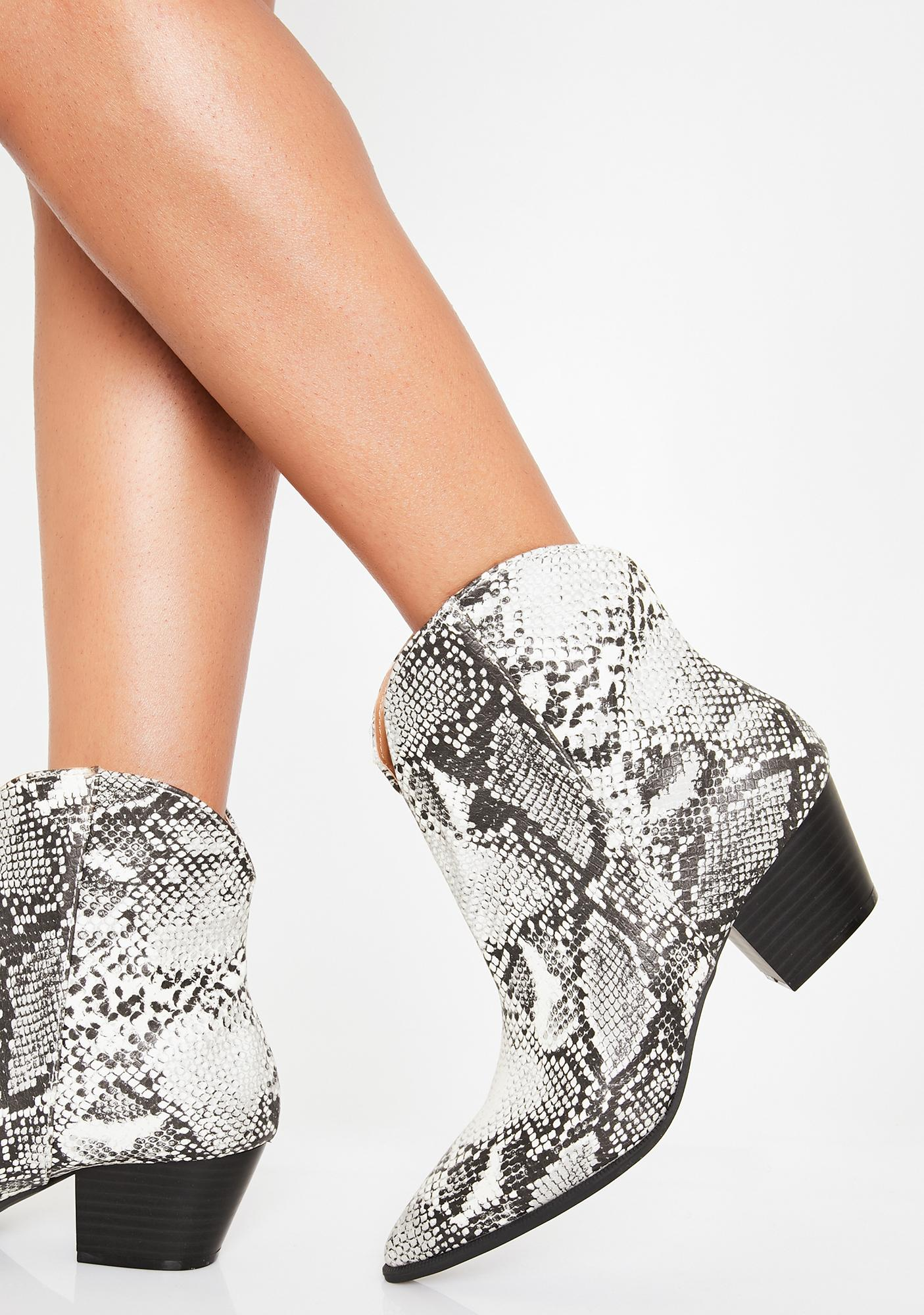 Come Slither Ankle Boots