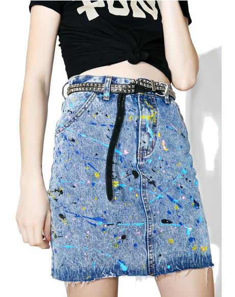 Pollock Denim Skirt