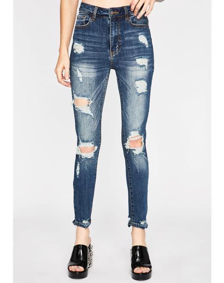 Tear 'Em Down Skinny Jeans