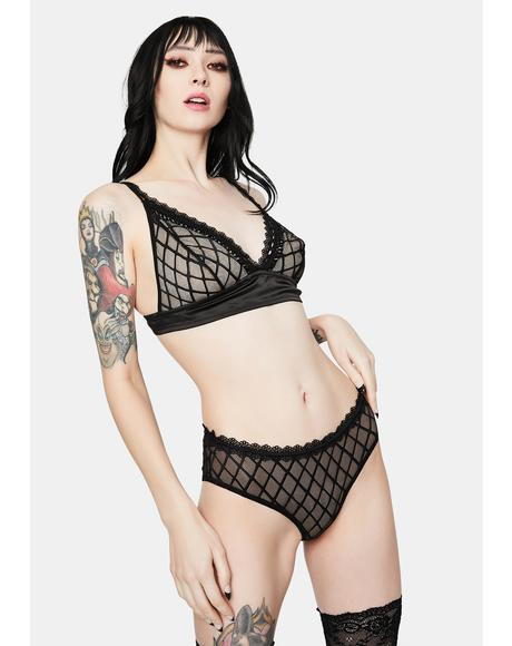 Made For Each Other Mesh Bralette Set