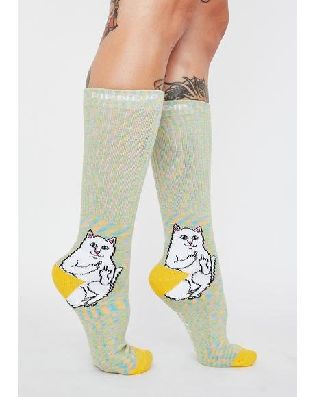 Gold Rainbow Lord Nermal Socks