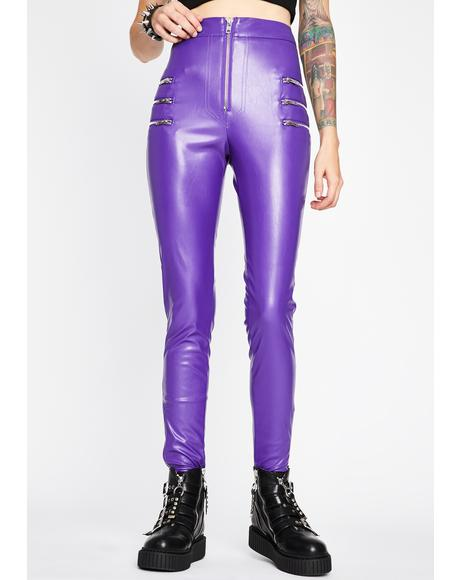 Grape Lady Danger Skinny Pants