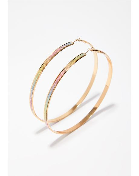 Rainbow Showerz Hoop Earrings