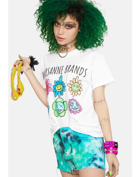Flower Face Graphic Tee