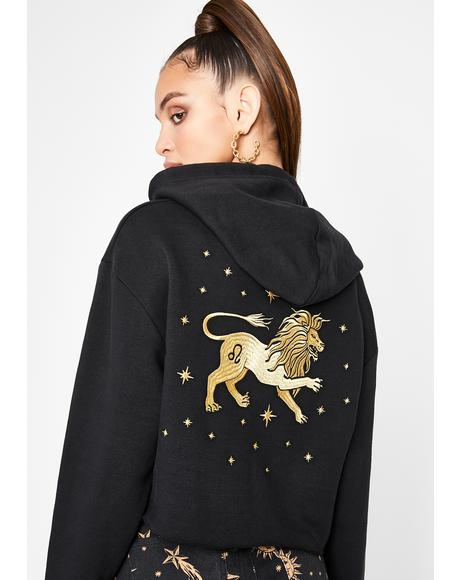 Leo Magick Embroidered Hoodie
