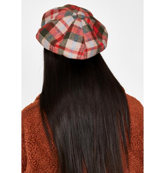 Ginger Checkin' Up Plaid Hat