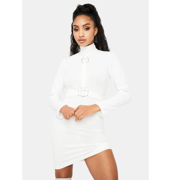 Ivory All In Favor Harness Dress