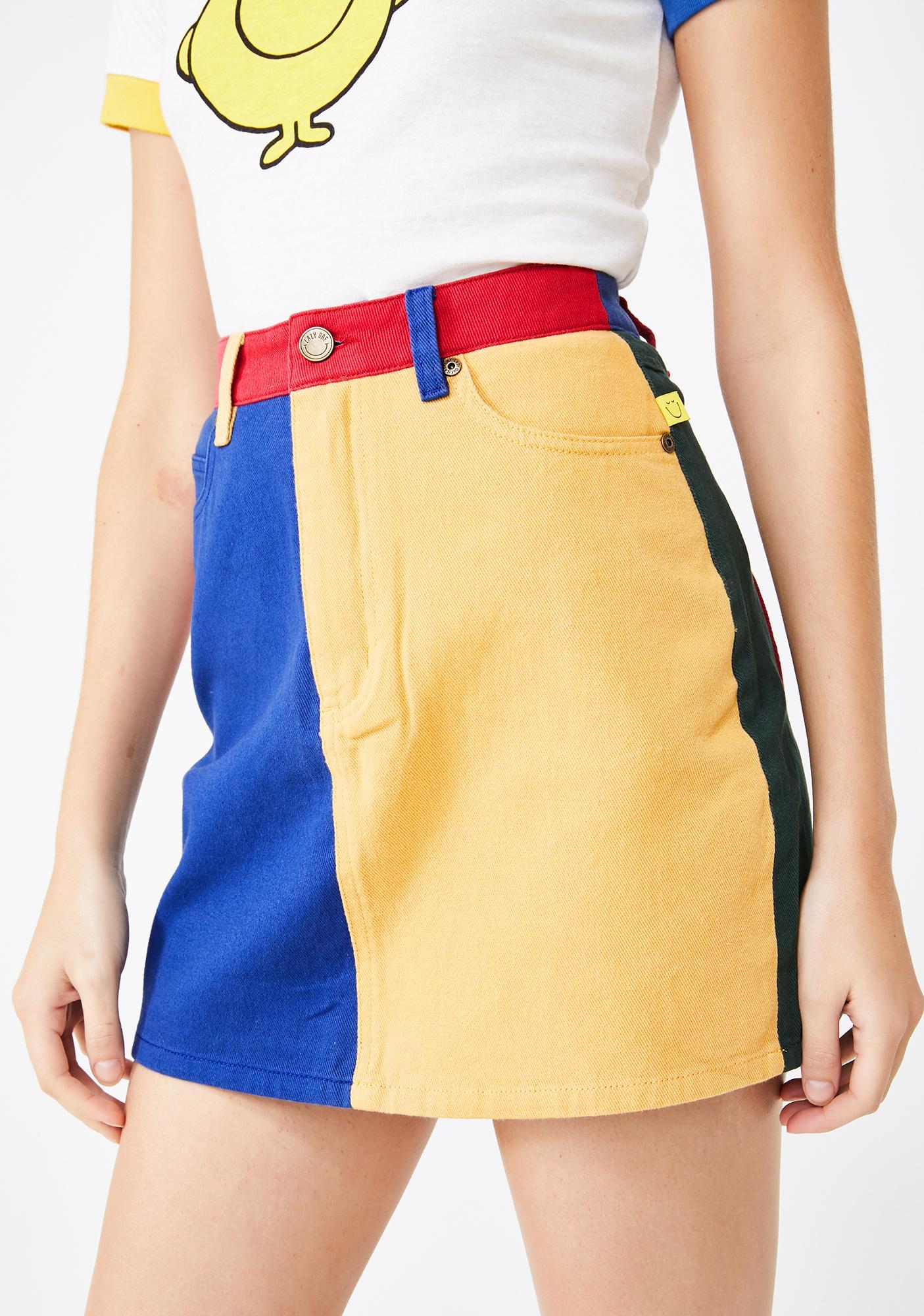 Lazy Oaf Mr Happy Mr Wrong Mini Skirt