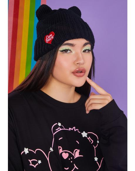 Night Full Of Cheer Bear Beanie