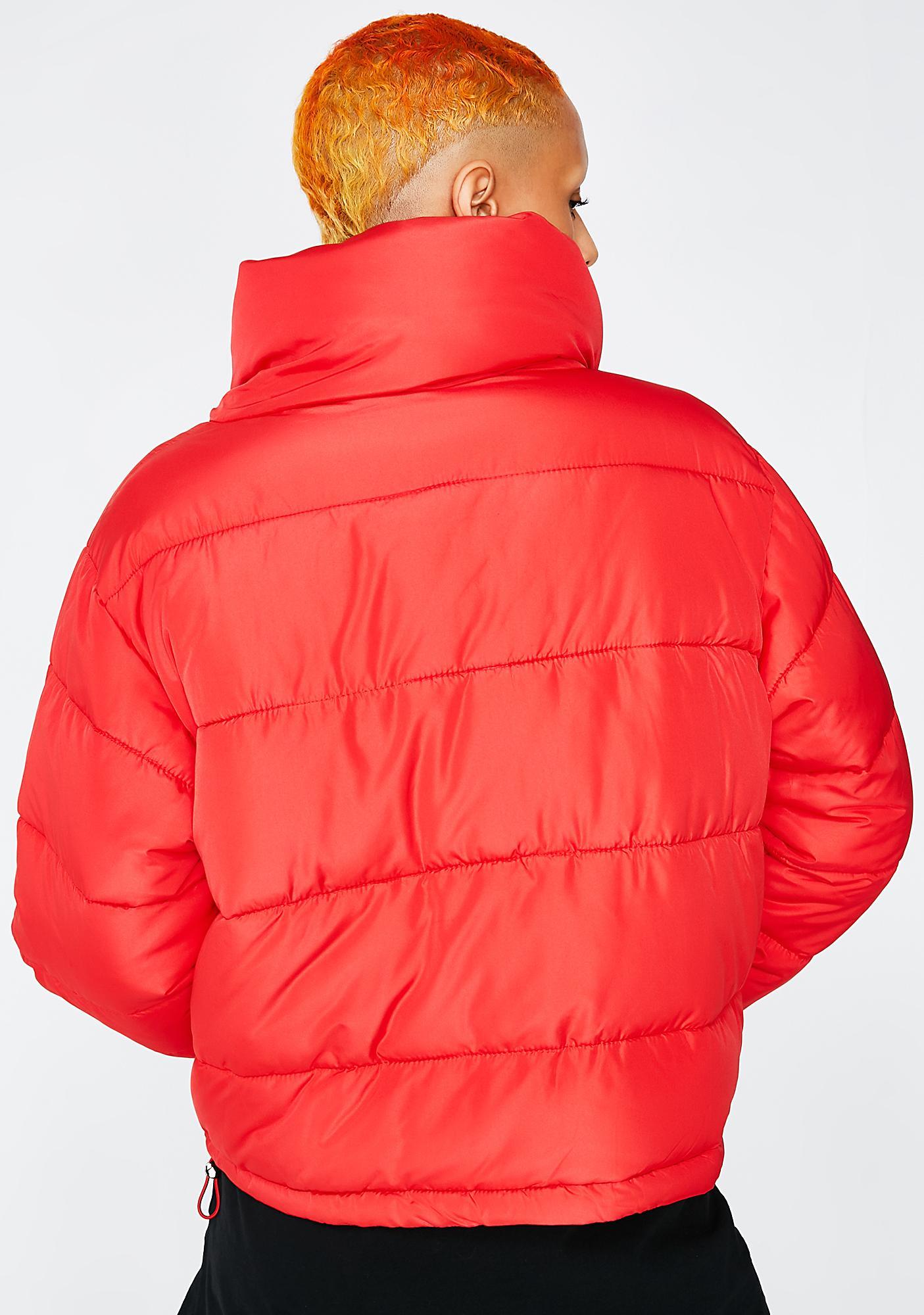 Glamorous Flame Hood Dreams Puff Jacket