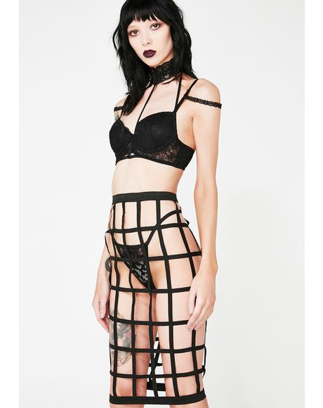 Impending Doom Cage Skirt Set
