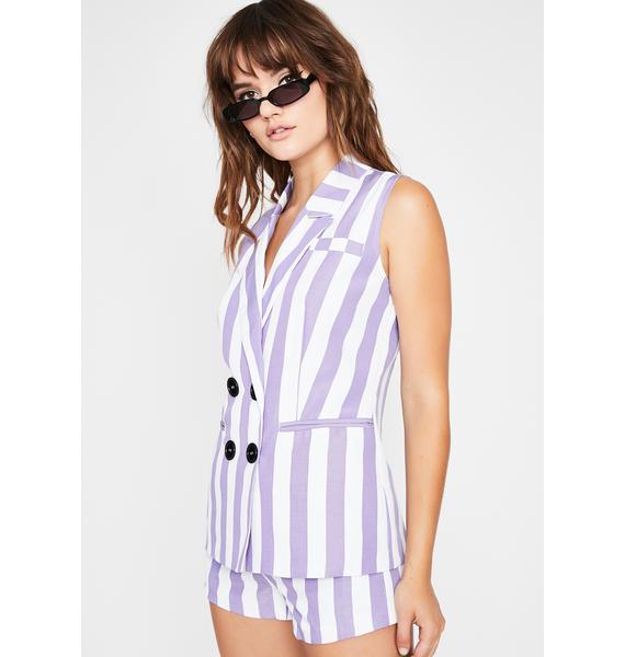 Thottin' N' Plottin' Stripe Blazer