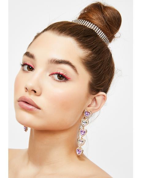Fallen Love Rhinestone Earrings