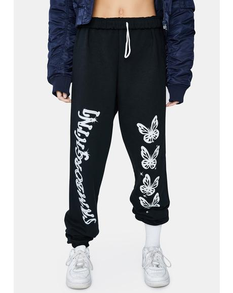 Hardcore Butterfly Graphic Sweatpants