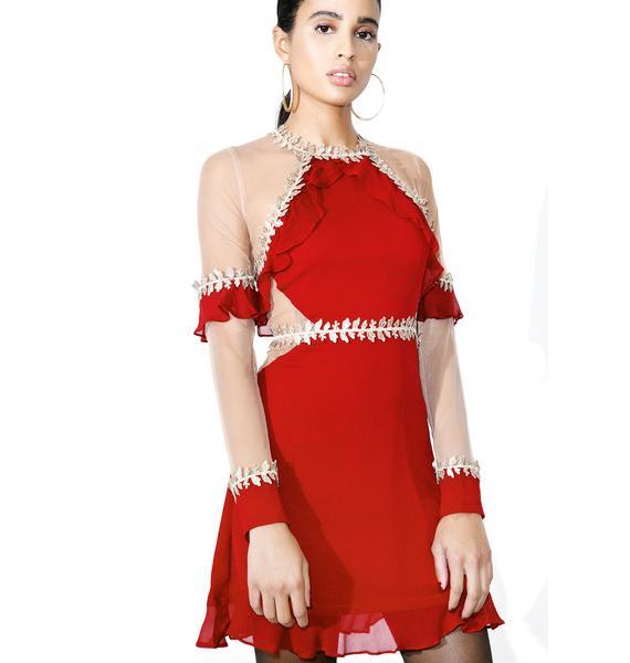 For Love & Lemons Lille Ruffled Dress