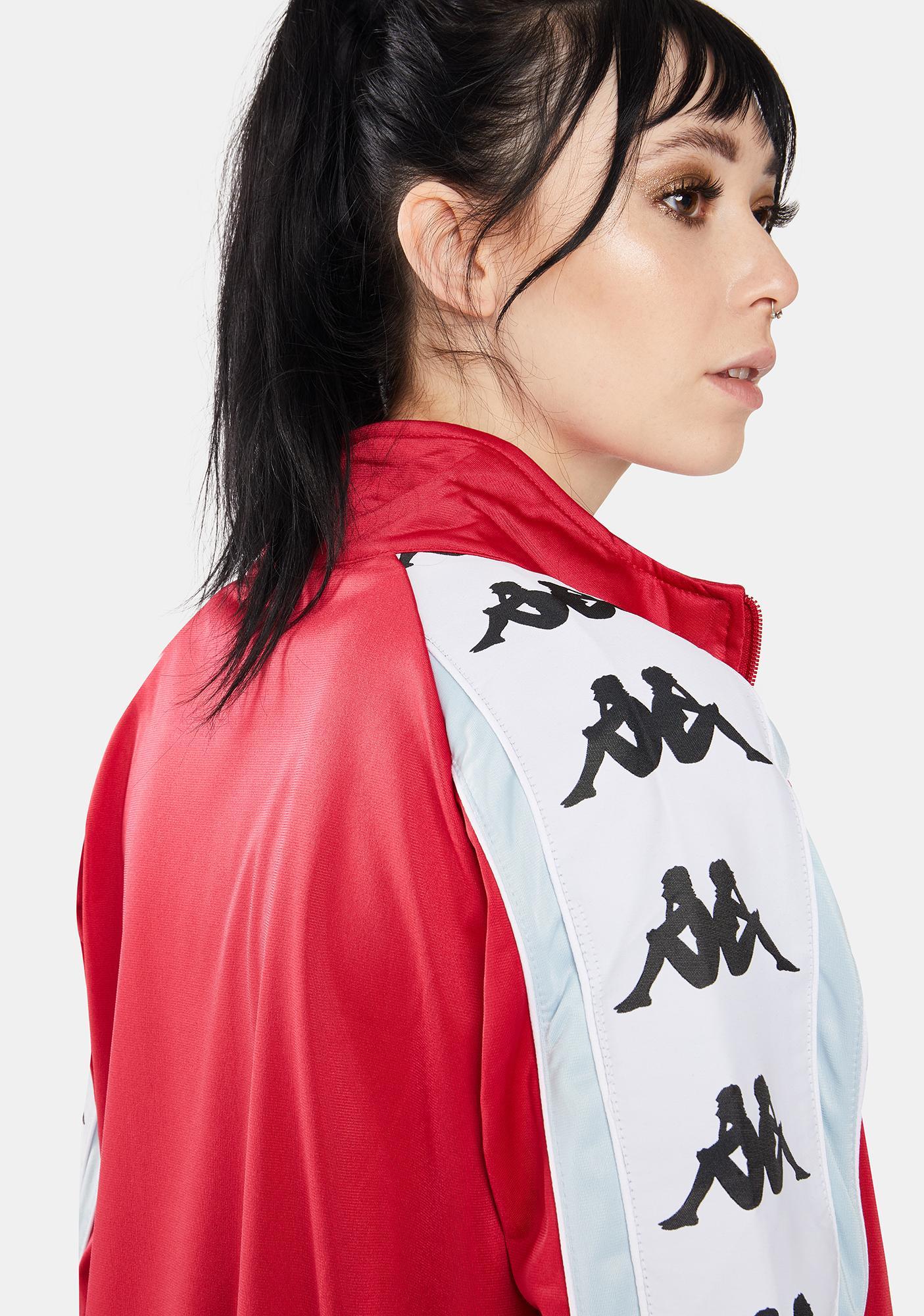 Kappa Red Cyclamen 222 Banda 10 Anay Track Jacket