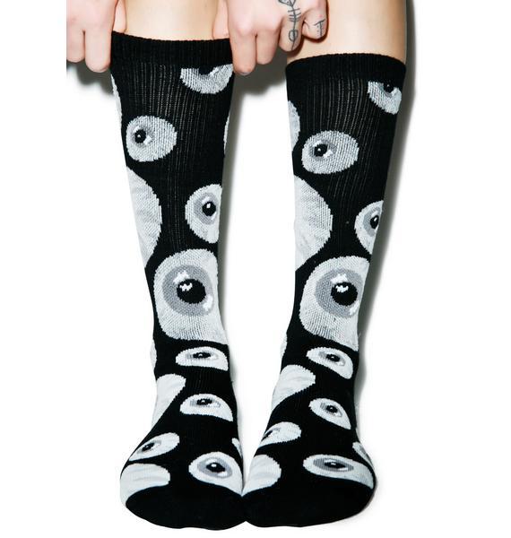 Mishka Keep Watch Pattern Socks