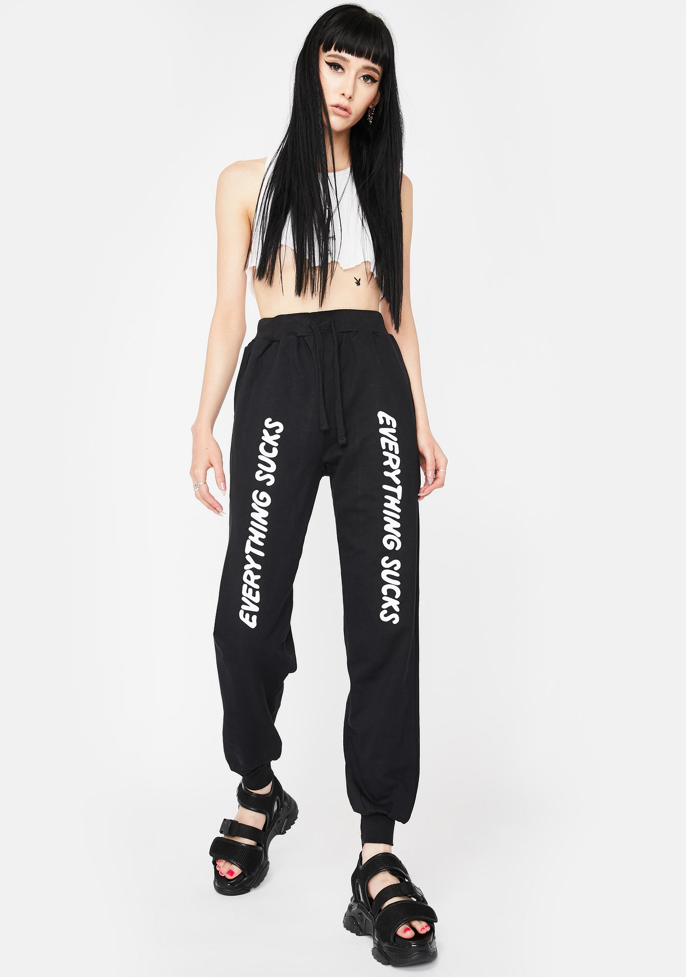 Long Clothing Everything Sucks Jogger Sweatpants