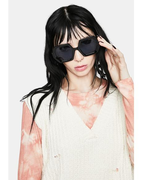 Facing Demons Chain Link Oversized Sunglasses