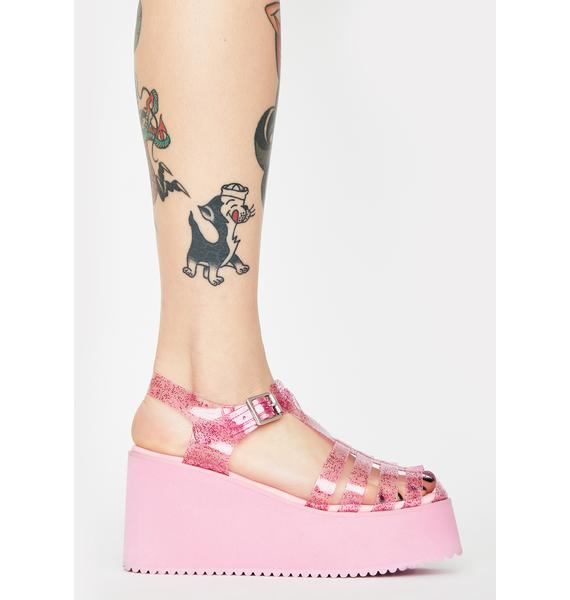 dELiA*s by Dolls Kill Outta Town Jelly Sandals