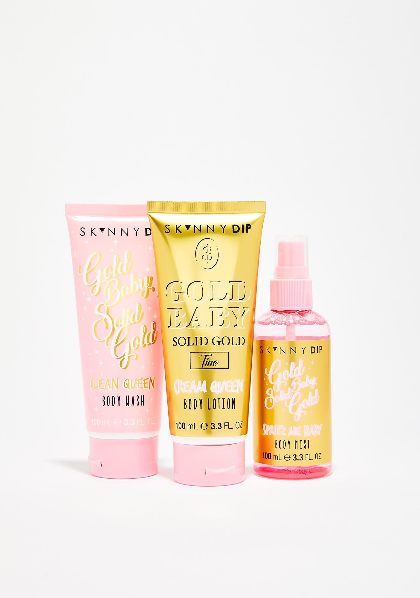 Skinnydip Good As Gold Body Care Trio Gift Set